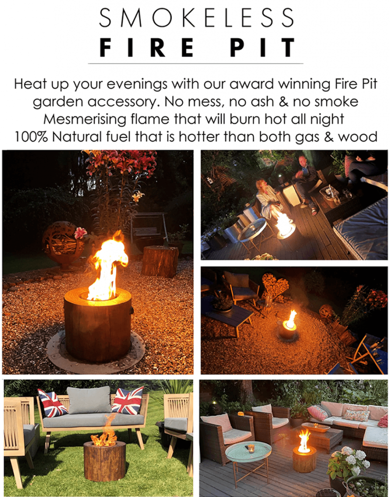 smokeless Firepits for the garden